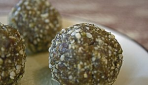 A close up of Cashew Energy Balls