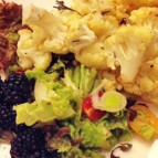Cauliflower with Mixed Greens and Blackberries - Healthy Zen
