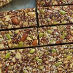 Energy bars made from different kinds of seeds