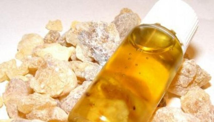 A small bottle of Frankincense oil
