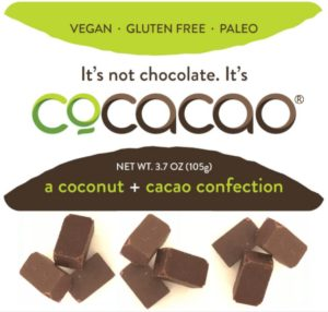 Cocacao label, a coconut and cacao confection