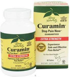 The package of the Curamin supplement